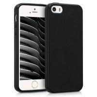 Capa Silicone iPhone 5 / iPhone 5S / iPhone SE Preta