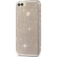 Capa Huawei P Smart Purpurina Brilhante - Dourado