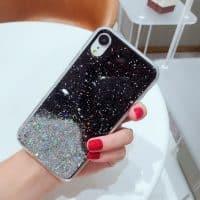 Capa Star Glitter Preto