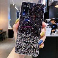 Capa Samsung Galaxy A10 A21S A30S A20E A40 A50 A51 A71 Star Glitter _ Preto
