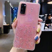 Capa Samsung Galaxy A10 A21S A30S A20E A40 A50 A51 A71 Star Glitter _ Rosa