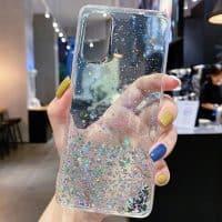 Capa Samsung Galaxy A10 A21S A30S A20E A40 A50 A51 A71 Star Glitter _ Transparente