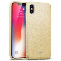 Capa iPhone XS Max Purpurina Brilhante - Dourado