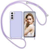 Capa Samsung Galaxy S21 S21 Plus com Cordão - Lilas