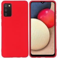 Capa Samsung Galaxy A02s Silicone Premium Vermelho