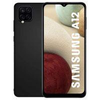 Capa Samsung Galaxy A12 Silicone Premium Preto