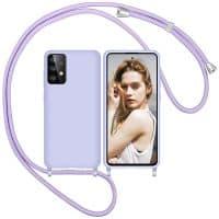 Capa Samsung Galaxy A52 5G A72 com Cordão - Lilas