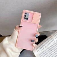 Capa Samsung Galaxy A12 A32 A52 A02S Hybrid Matte com Proteção de Câmera - Rosa