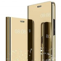 Capa Samsung Galaxy Clear View Flip Cover - Dourado