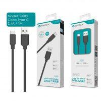 Cabo TYPE C para USB (NovoTeck S-008 - 2.4A - Preto)