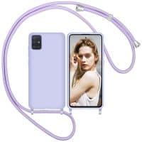 Capa Samsung Galaxy a51 a71 com Cordão - Lilas