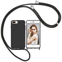 Capa iPhone 7 Plus | iPhone 8 Plus com Cordão - Preto