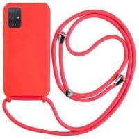 Capa Samsung Galaxy A71 com Cordão - Vermelho