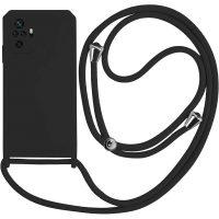 Capa Xiaomi Redmi Note 10 Pro | 10 Pro Max com Cordão - Preto
