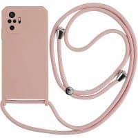 Capa Xiaomi Redmi Note 10 Pro | 10 Pro Max com Cordão - Rosa Areia