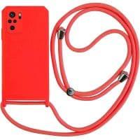 Capa Xiaomi Redmi Note 10 | 10S com Cordão - Vermelho