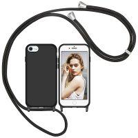 Capa iPhone 7 8 SE com Cordão - Preto