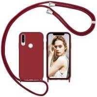Capa Huawei P30 Lite New Edition com Cordão - Vermelho