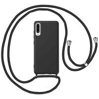 Capa Samsung Galaxy A30S   A50 com Cordão - Preto