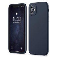 Capa iPhone 11 12 Silicone Líquido Premium - Azul