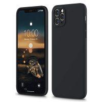 Capa iPhone 12 Pro Max iPhone 11 Pro Max Silicone Líquido Premium - Preto