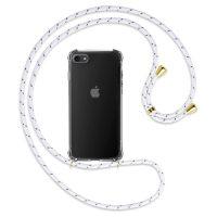 Capa iPhone 7 | iPhone 8 | SE 2020 Antichoque com Cordão - Branco